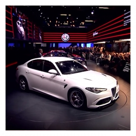 Alfa Romeo Giulia Press Conference at IAA Frankfurt 2015